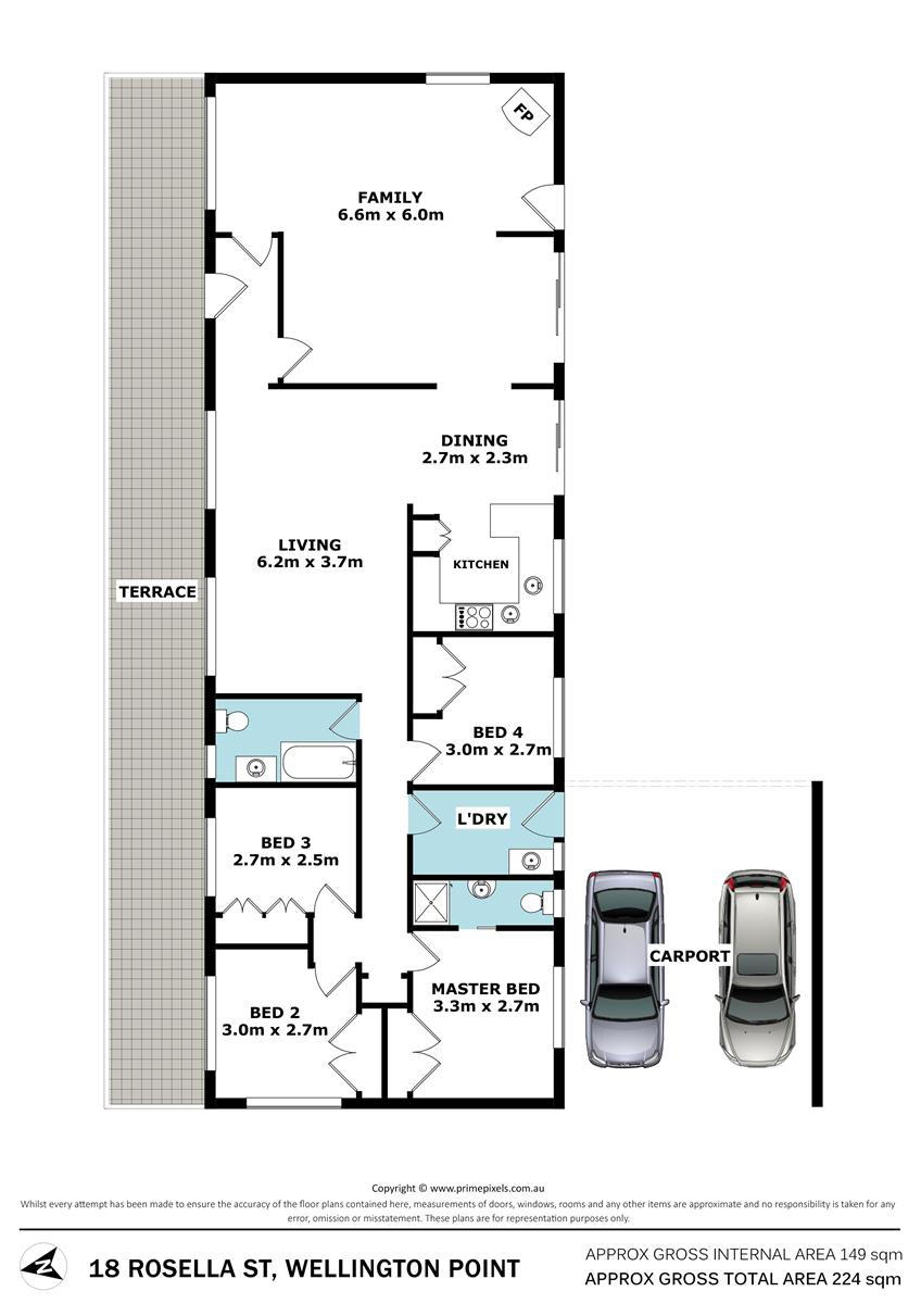 18 Rosella St WELLINGTON POINT QLD 4160 Floorplan 1