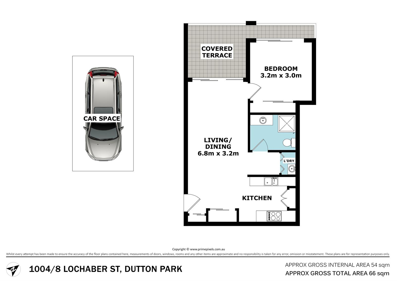 1004 / 8 Lochaber St DUTTON PARK QLD 4102 Floorplan 1