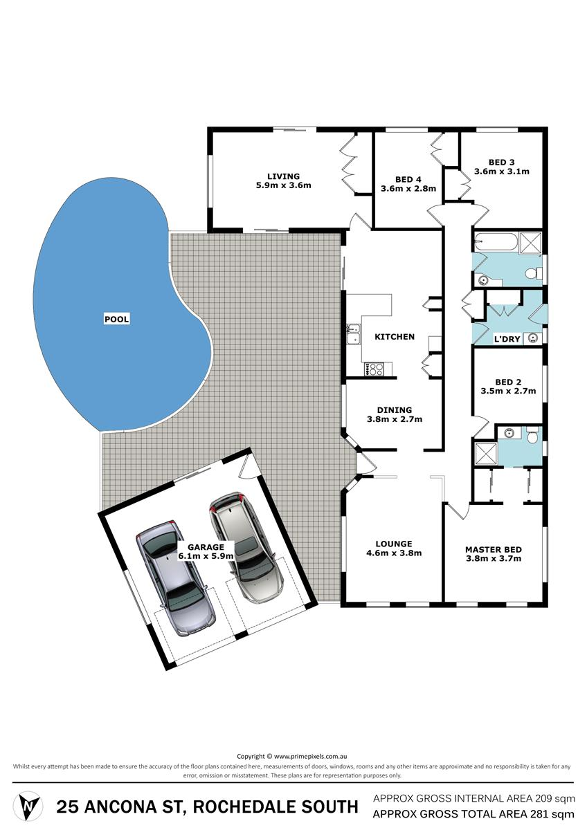 25 Ancona St ROCHEDALE SOUTH QLD 4123 Floorplan 1