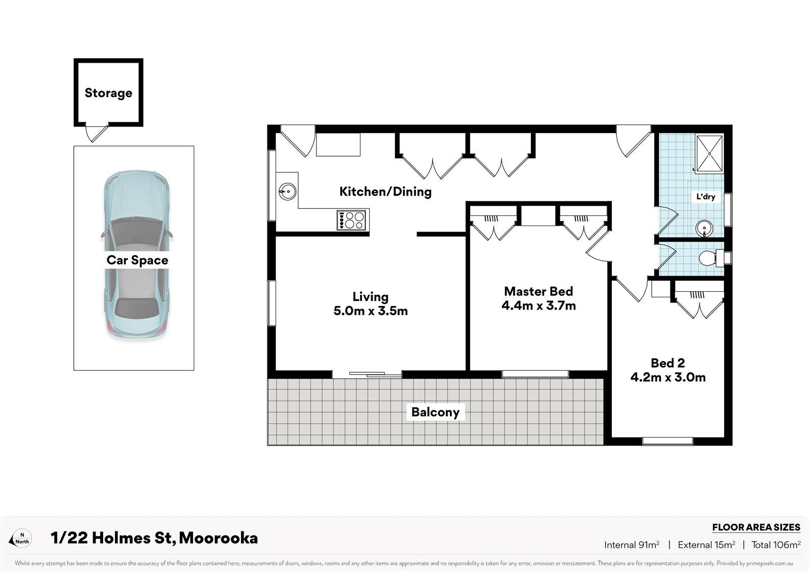 1 / 22 Holmes St Moorooka QLD 4105 Floorplan 1