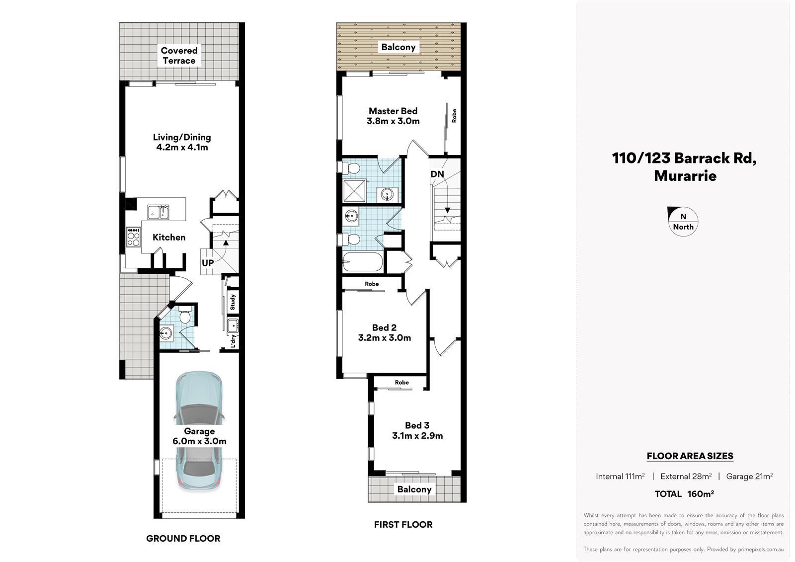 110 / 123 Barrack Rd MURARRIE QLD 4172 Floorplan 1