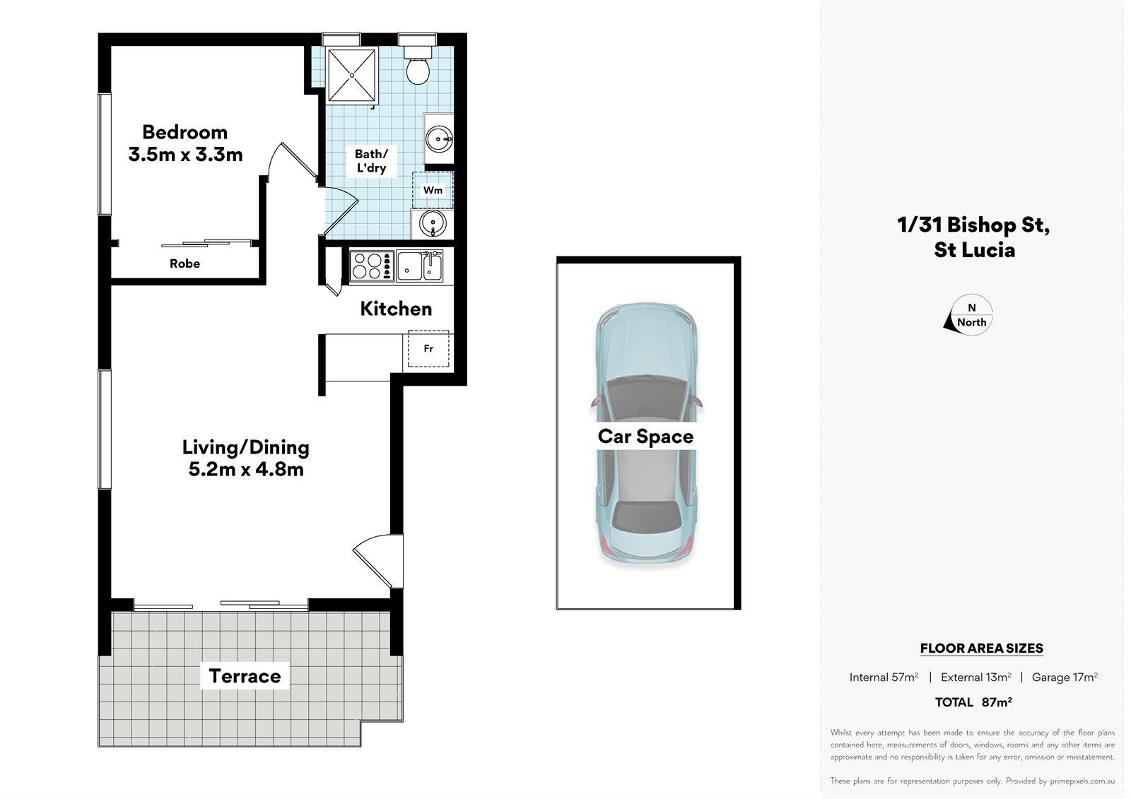 1 / 31 Bishop St ST LUCIA QLD 4067 Floorplan 1