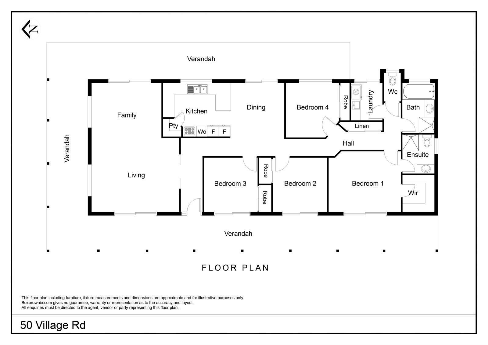 50 VILLAGE ROAD LOCKROSE QLD 4342 Floorplan 1