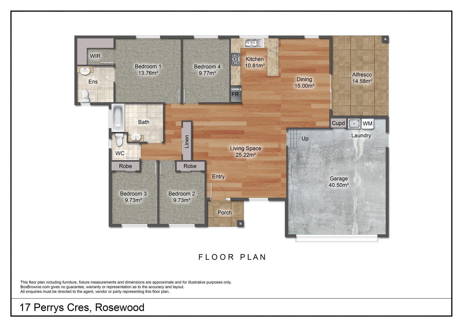 17 Perrys Crescent ROSEWOOD QLD 4340 Floorplan 1